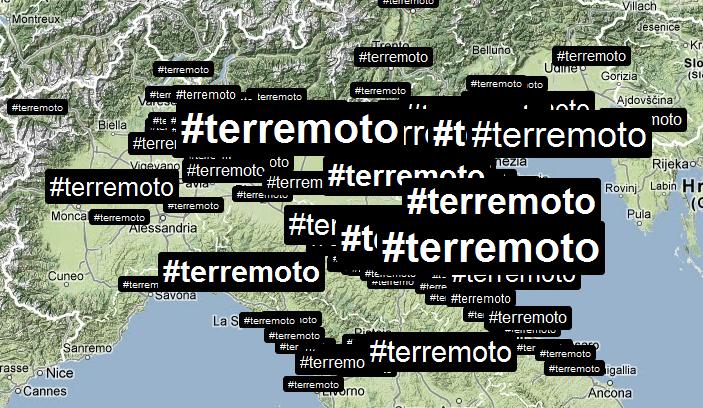 terremoto 1 Da Brindisi a Ferrara, le notizie corrono sul web.